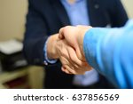 meeting with partners | Shutterstock . vector #637856569