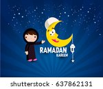 illustration of ramadan kareem... | Shutterstock .eps vector #637862131