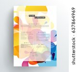 creative  abstract colorful cv  ...