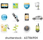 gps and navigation icon set | Shutterstock .eps vector #63786904