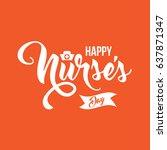 international nurse's day icon... | Shutterstock .eps vector #637871347
