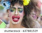 rio de janeiro   february 25 ... | Shutterstock . vector #637881529