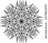 mandala. vintage decorative... | Shutterstock .eps vector #637881595