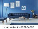 botanic style spacious blue... | Shutterstock . vector #637886335