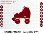 vector illustration of roller... | Shutterstock .eps vector #637889194