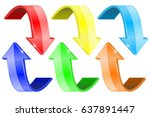 colored arrows. web icons.... | Shutterstock .eps vector #637891447