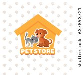 Pet Store Vector Background...