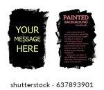 set of black paint  ink brush...   Shutterstock .eps vector #637893901