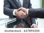 business people shaking hands... | Shutterstock . vector #637894204
