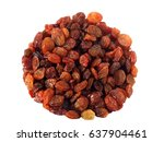 sweet dry raisins isolated on... | Shutterstock . vector #637904461