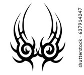 tribal pattern tattoo vector... | Shutterstock .eps vector #637914247