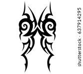 tribal tattoo art designs.... | Shutterstock .eps vector #637914295