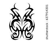 tribal tattoo art designs.... | Shutterstock .eps vector #637914301