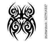 tattoos ideas designs   tribal... | Shutterstock .eps vector #637914337