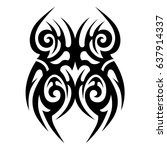 polynesian tattoo pattern ... | Shutterstock .eps vector #637914337