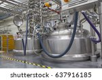 shiny stainless steel pipes ... | Shutterstock . vector #637916185