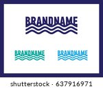 wave with place for name of... | Shutterstock .eps vector #637916971