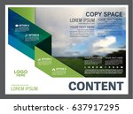presentation layout design... | Shutterstock .eps vector #637917295
