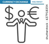 currency exchange icon.... | Shutterstock .eps vector #637918354