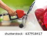 refuel car with petrol ... | Shutterstock . vector #637918417