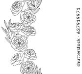 vector black white contour... | Shutterstock .eps vector #637919971