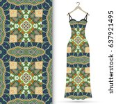 vector fashion illustration.... | Shutterstock .eps vector #637921495