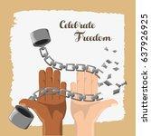 Hands Broken Of Chain To...