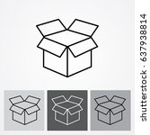 line icon  open box   Shutterstock .eps vector #637938814