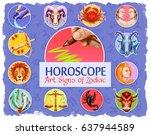 Set Of Horoscope Art Signs Of...