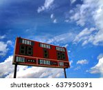 baseball scoreboard and blue... | Shutterstock . vector #637950391