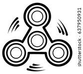 spinner toy   fidget spinner... | Shutterstock .eps vector #637950931