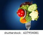 healthy eating. | Shutterstock . vector #637954081