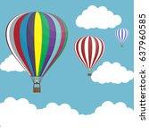 balloon air  sky blue | Shutterstock .eps vector #637960585