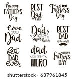 set of happy father's day... | Shutterstock .eps vector #637961845