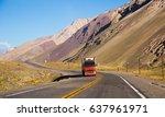overlooking the mountain pass... | Shutterstock . vector #637961971