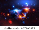 3d abstract background with...   Shutterstock . vector #637968529