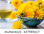 Yellow Dandelion Heads In Bowl...