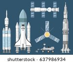 astronautics and space... | Shutterstock .eps vector #637986934