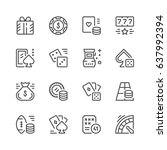 set line icons of gambling | Shutterstock .eps vector #637992394
