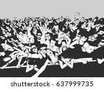 illustration of cheerful crowd... | Shutterstock .eps vector #637999735
