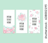 set of greeting card templates. ... | Shutterstock .eps vector #638002195