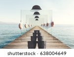 surreal enigmatic picture on... | Shutterstock . vector #638004649