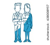 man and woman business people... | Shutterstock .eps vector #638008957