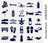 relax icons set. set of 25... | Shutterstock .eps vector #638008969