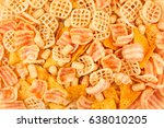 top view round pile of... | Shutterstock . vector #638010205