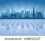 karachi pakistan city skyline... | Shutterstock .eps vector #638012137