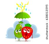 two characters pear and... | Shutterstock .eps vector #638013595