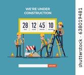 cool vector website 'under... | Shutterstock .eps vector #638019481