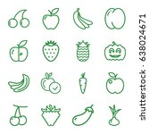 ripe icons set. set of 16 ripe... | Shutterstock .eps vector #638024671