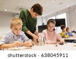 education  children  technology ... | Shutterstock . vector #638045911